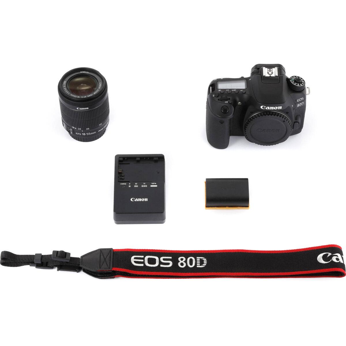 کیت لوازم جانبی دوربین canon eos 80d با بهترین قیمت - یزد کمرا