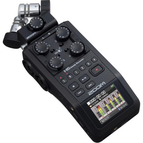 قیمت و خرید رکوردر حرفه ای ضبط صدا Zoom H6 black