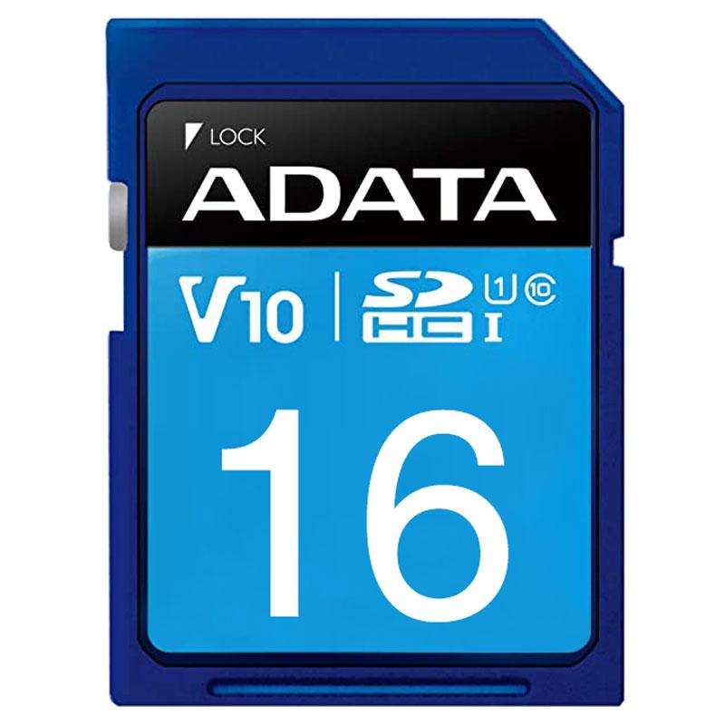 قیمت و خرید کارت حافظه 16 گیگ ADATA Premier V10 C10 U1 100MB/s