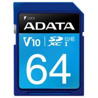 قیمت و خرید کارت حافظه 64 گیگ ADATA Premier V10 C10 U1 100MB/s