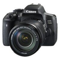دوربین دیجیتال کانن 750D با لنز 18-135 stm ( کارکرده )